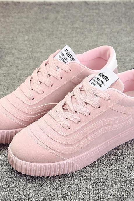 Sneakers Women Suede Casual Comfortable Damping Eva