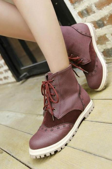 Women's Flats Round Toe Ankle Boots