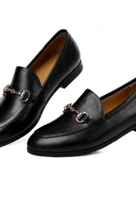 Women's Leather Slip-On Leather Loafers