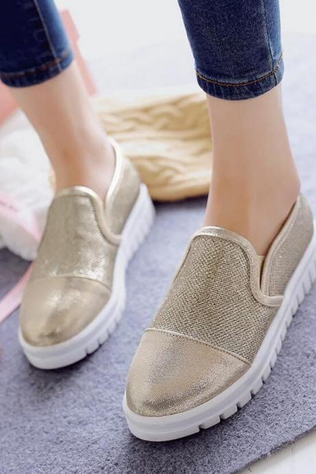 Loafers Flats Women Fashion Mesh Casual Flat Mixed Colors Round Toe Slip-on